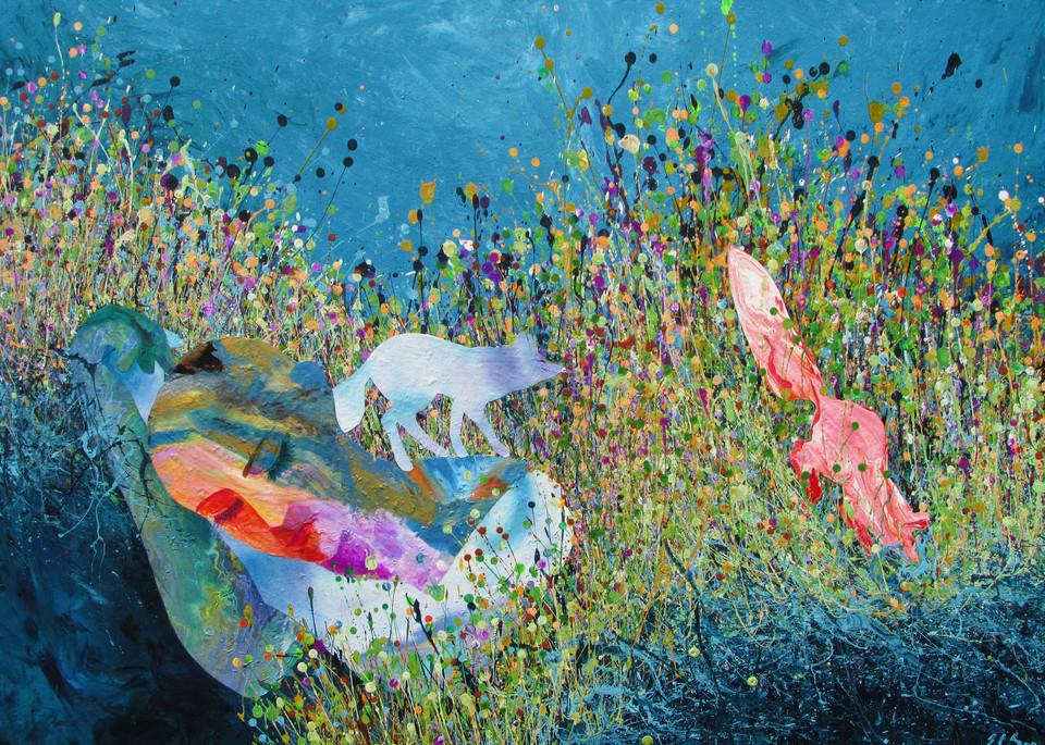 Slumberer l Collage Art l En Chuen Soo