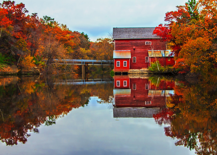 Dells Mill Reflection - Best Fall Photos | William Drew