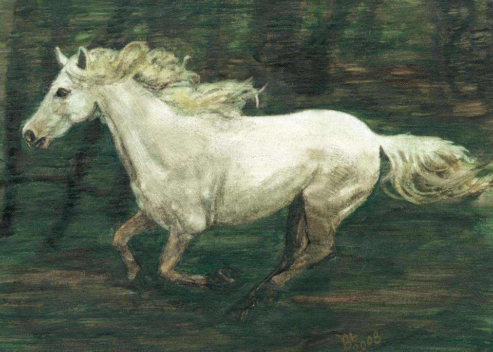 Horse Galloping By Art | Blissful Bonita Art Studio & Gallery
