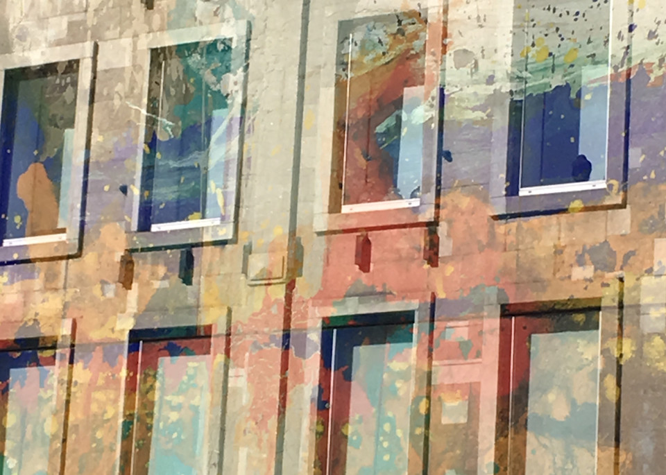 West Broadway New York City, NYC, Manhattan, art photograph, window reflection