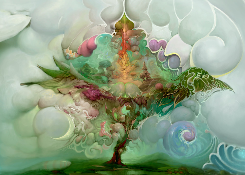 """""""TREE of LIFE,"""" by Burton Gray, modern landscape painting."""