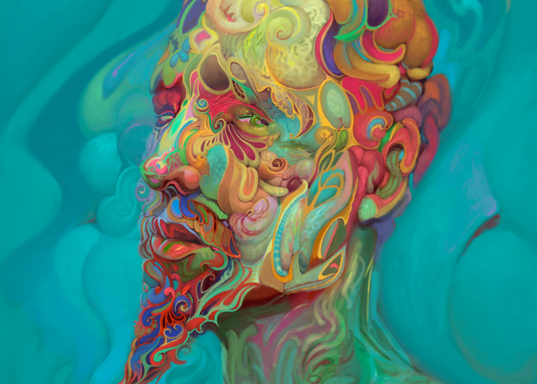 """""""ME,"""" by Burton Gray - A Post Abstract Portrait painting"""