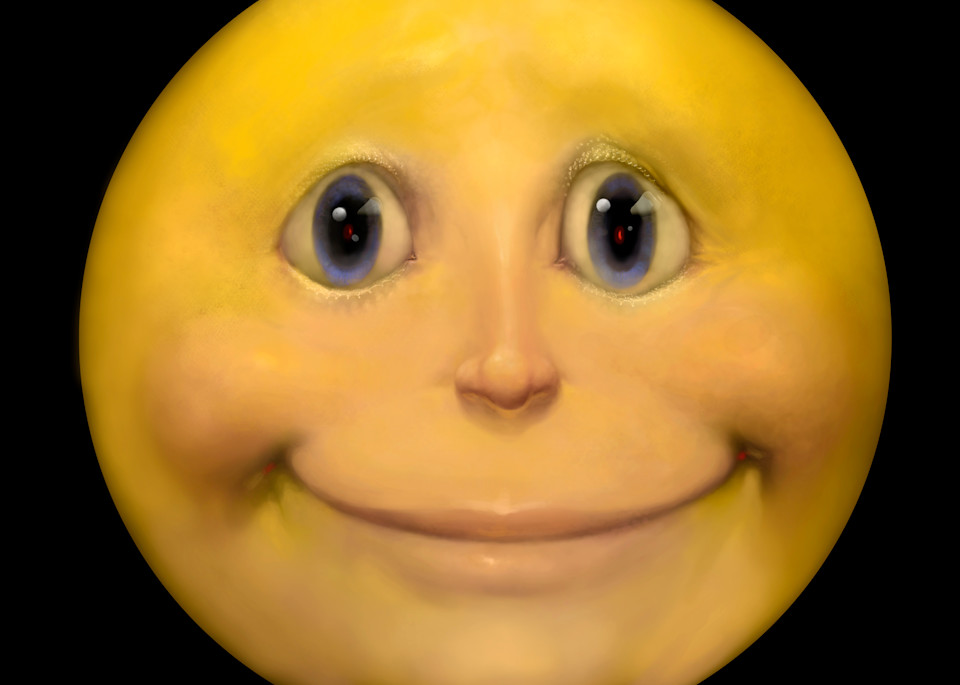 """""""HAPPY FACE,"""" Yellow smiley face icon comes to life!"""