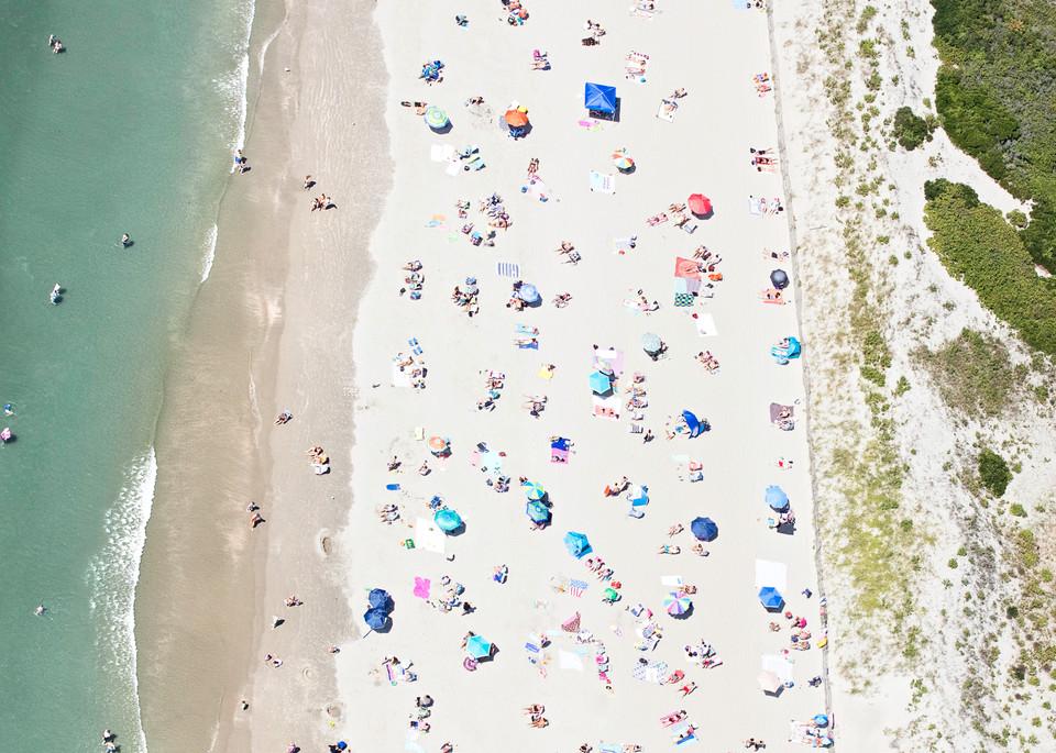 """""""Over Second Beach"""" Newport RI Aerial Beach Photograph"""
