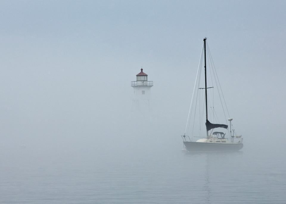 Grand Marais Harbor in Fog