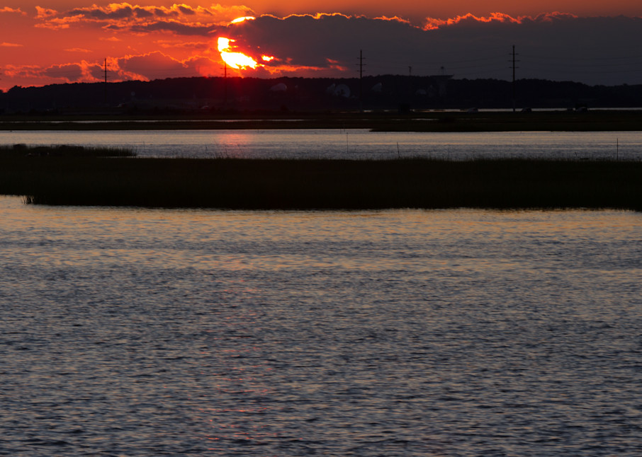 A Fine Art Photograph of a Romantic Sunset in Chincoteague by Michael Pucciarelli
