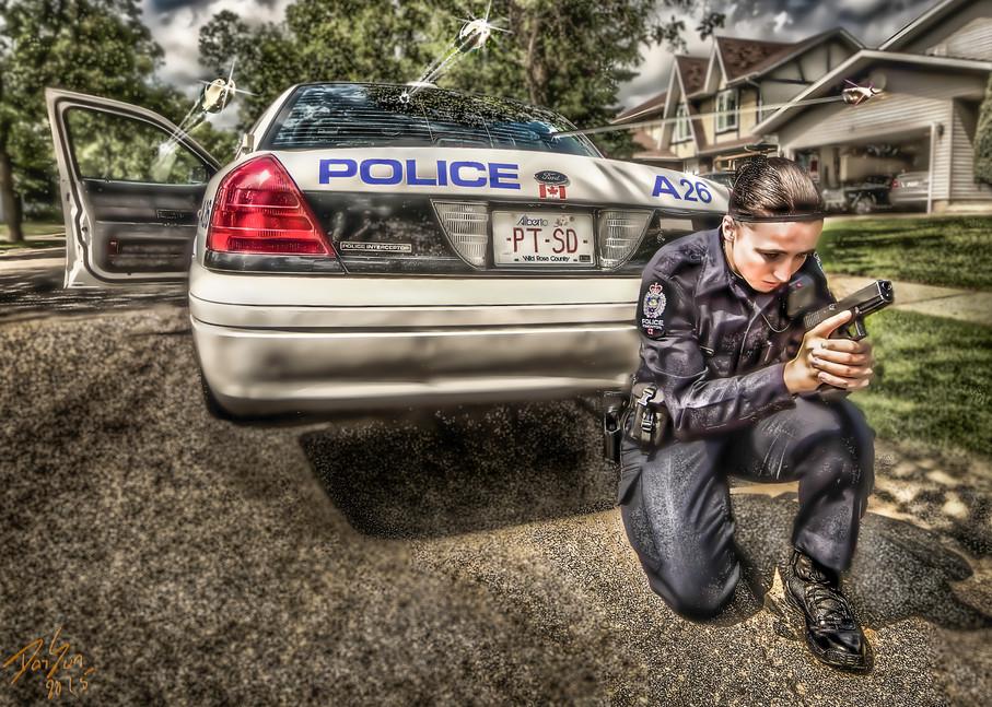 Female City Police Art | DanSun Photo Art