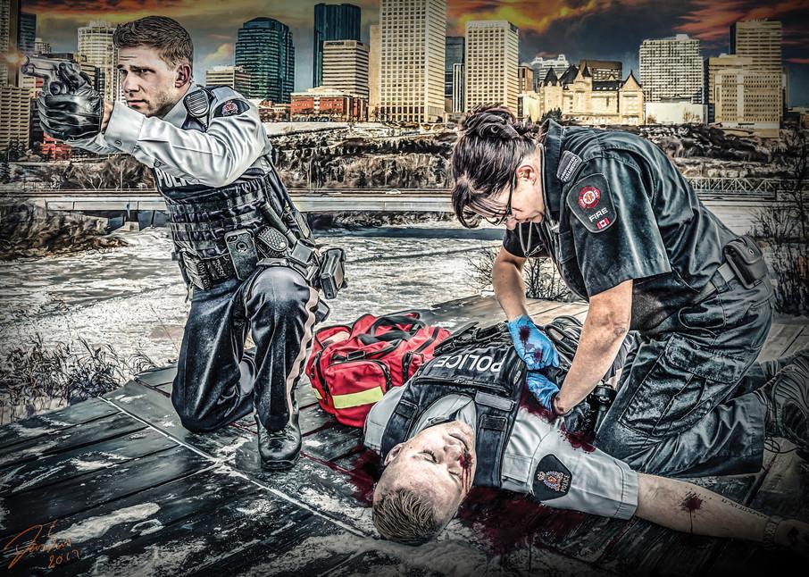 Officer Down Art | DanSun Photo Art