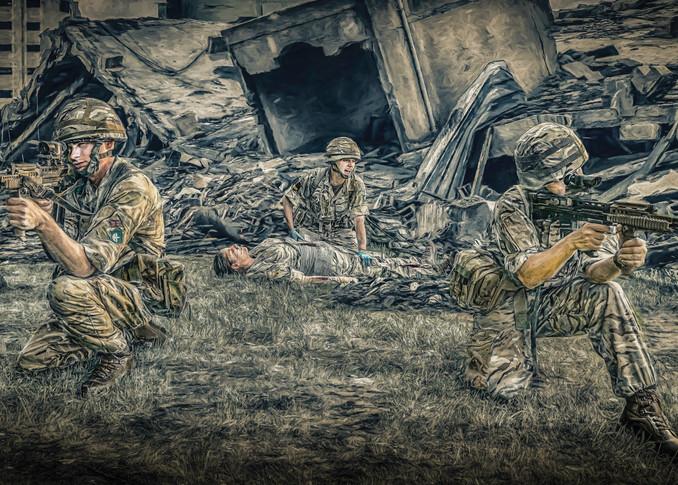 220 Medical Sqn Ary Reserves Combat Art   DanSun Photo Art