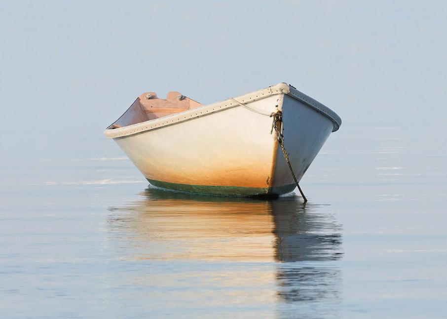 """Nantucket Weathered Dory"" Fine Art Nautical Rowboat Photography"