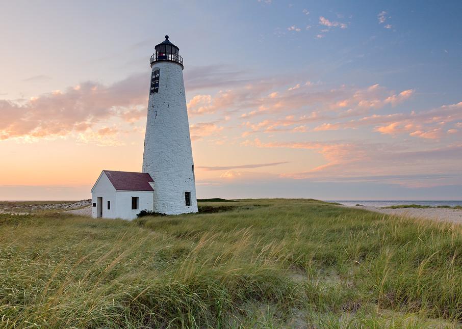 """Great Point Lighthouse Sunset"" Large Fine Art Nantucket Photography"