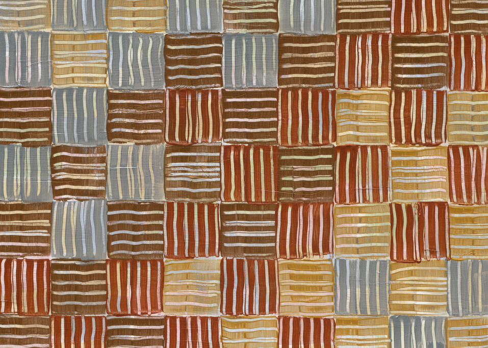 A checked metallic abstract.