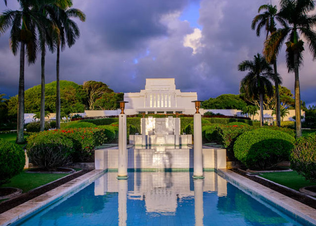 Laie Temple - Twilight Reflection
