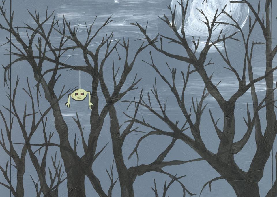 Creepy trees at night