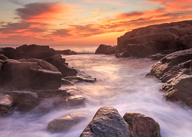 """Hazard Rocks October Sunrise"" Narragansett Rhode Island Seascape Photo"