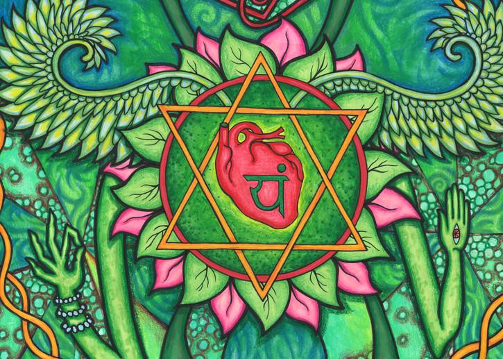 heart chakra mandala art