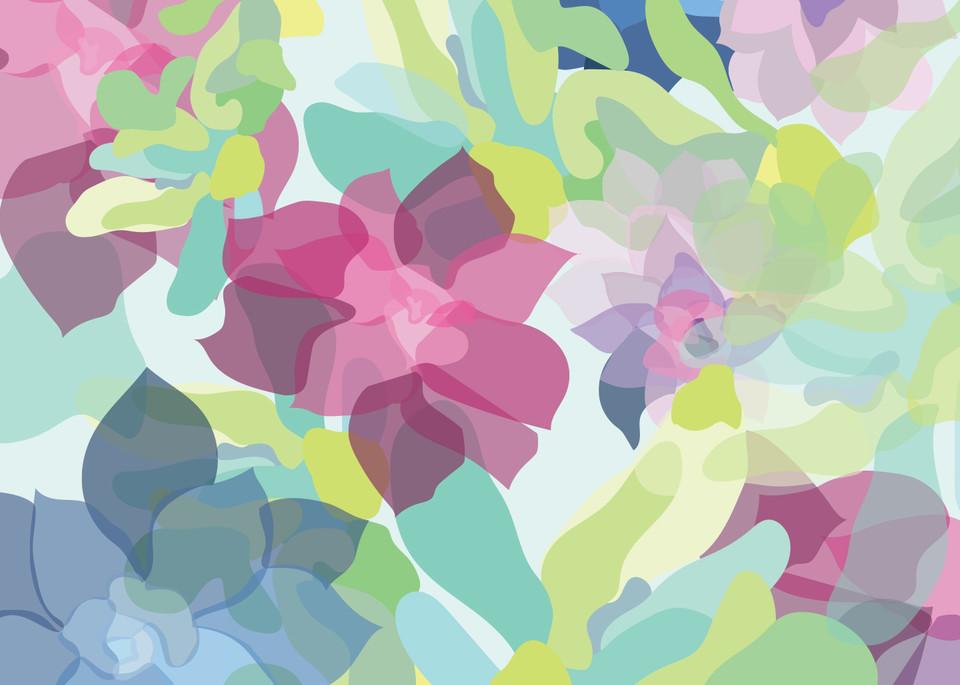 Caroline Geys   Succulent Overlay   Digital Art