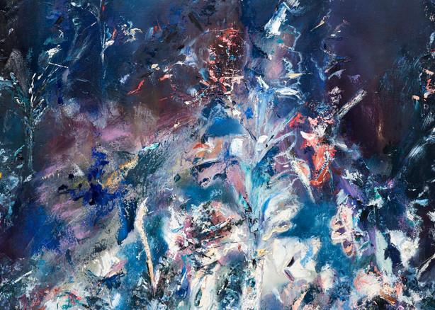 Nightfall Ambiance - Original Abstract Landscape Painting   Samantha Kaplan