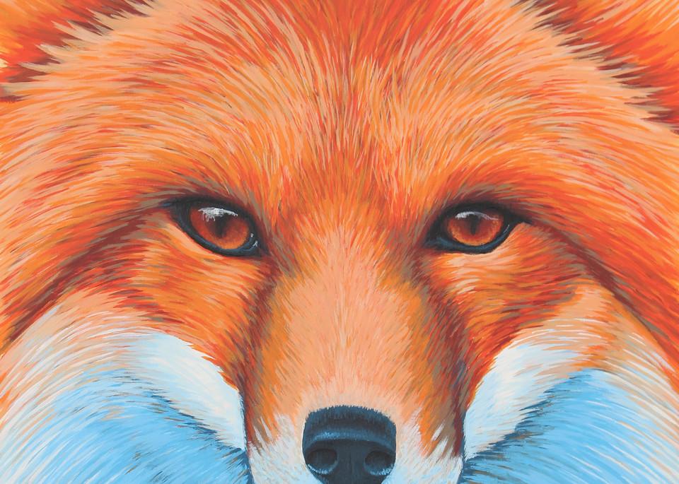 Zak the Fox Painting -  Animal Art by Zak D. Parsons