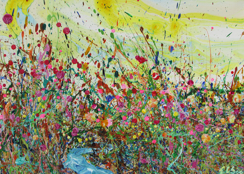 Abstract Wildflowers Art/Lucky Mimulus/EnChuen Soo