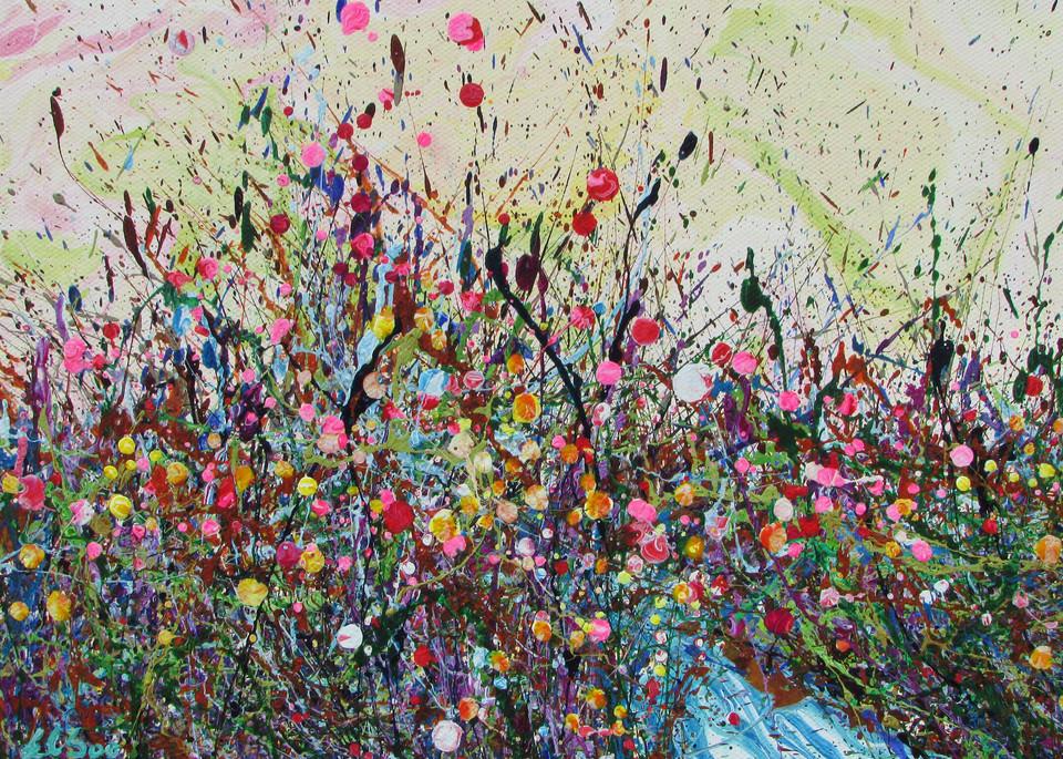 Dazzling Bubbursting/Abstract Wildflowers Art/EnChuen Soo