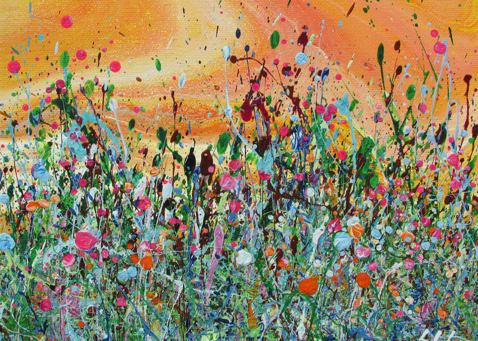 Cherished/Abstract Wildflowers Art/En Chuen Soo