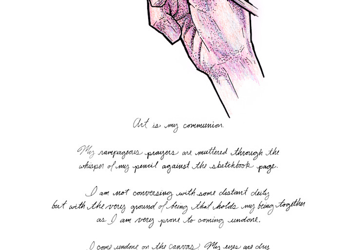 Art is My Communion - Drawing with Text | Zak D. Parsons