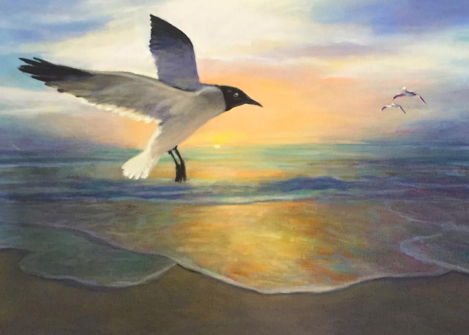 Sea Gulls At Dawns 300 Art | Charles Wallis