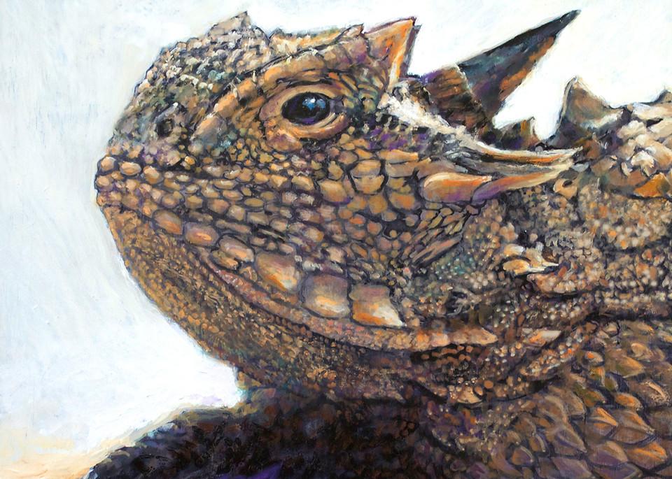 Texas Horned Lizard20x20 72 Art | Charles Wallis