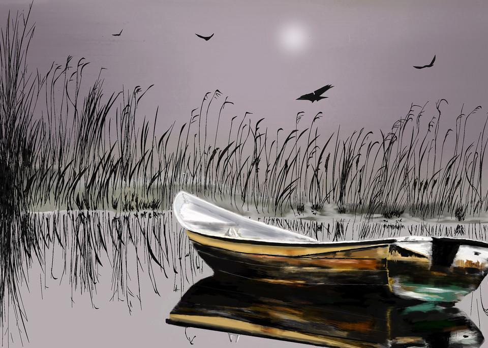 Winter Boat Art   Dave Fox Studios