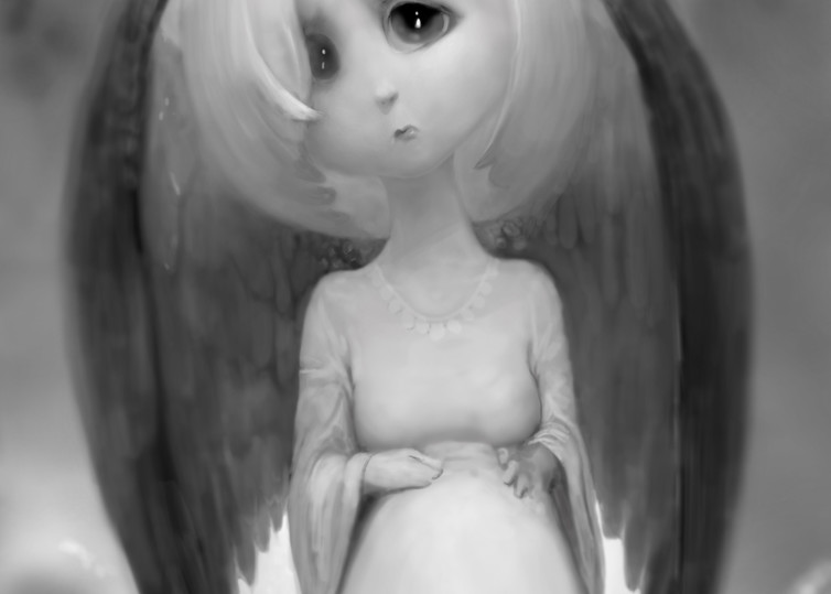"Burton Gray's ""Sad Angel.' 2017"