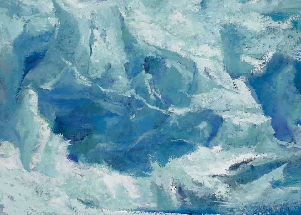 The Blues | Glacier Art Print by Antrese Wood