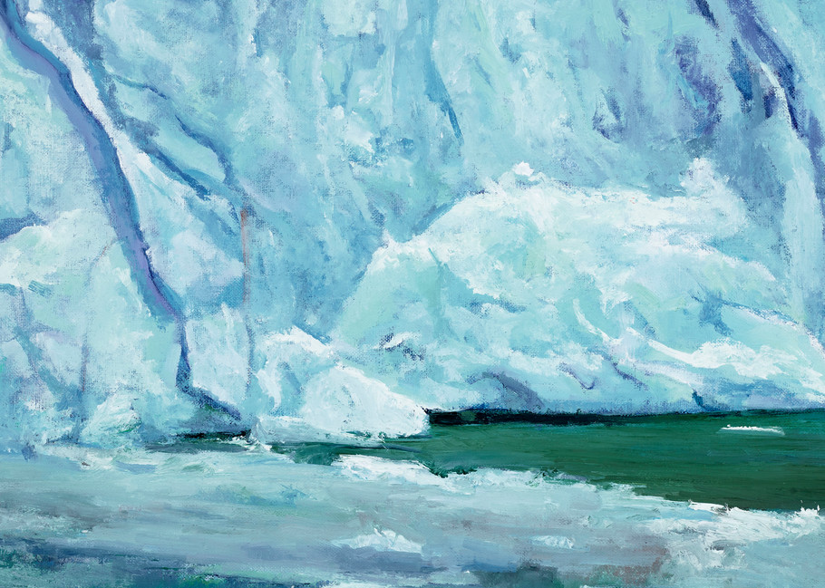 Ice Flow, Perito Moreno | Glacier Art Print by Antrese Wood