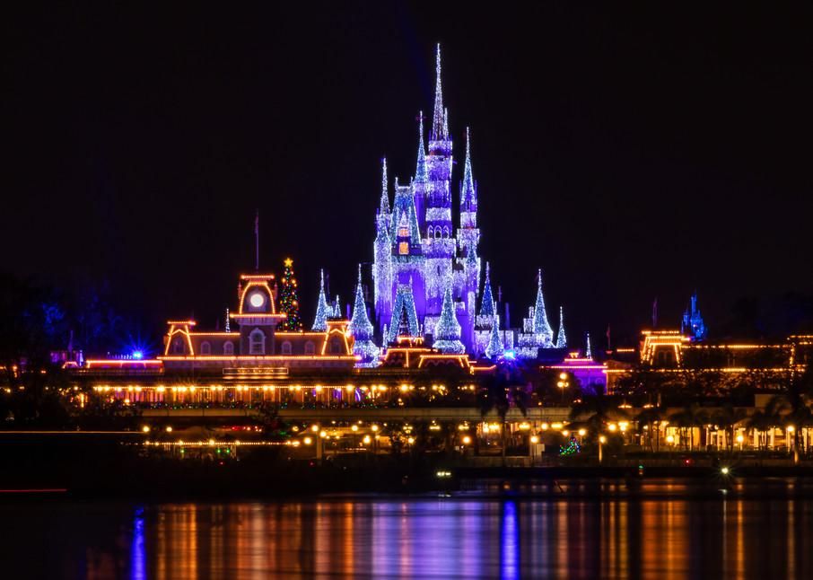 Magic Kingdom Christmas - Disney Wall Art | William Drew