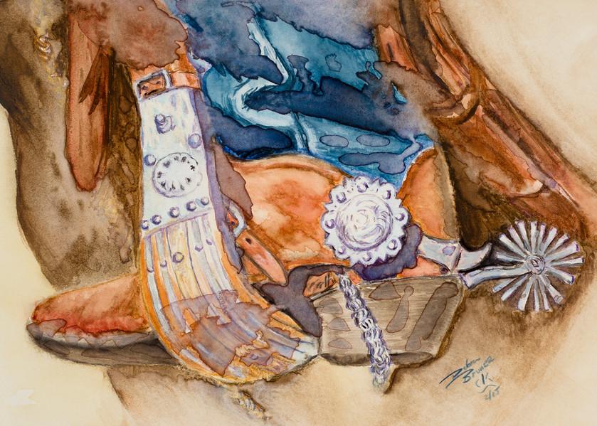Blue Vaquero  Art | Debra Bruner Studio