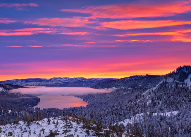 Photograph of Donner Lake at Sunrise