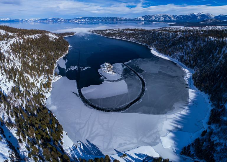 Emerald Bay Ice Freeze Print