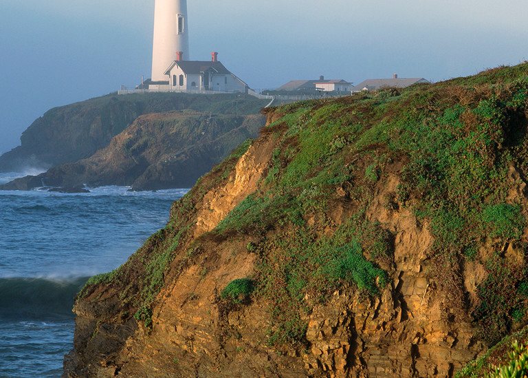 Pigeon Point Lighthouse In Fog Art   Tony Pagliaro Gallery