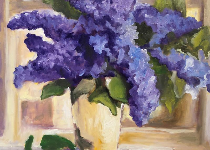 Purple Lilacs | Fine Art Painting Print by Rick Osborn