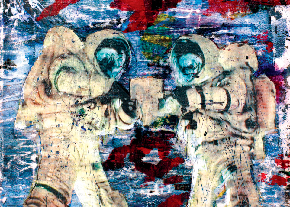 Two Astronauts Art | Kyle Schember