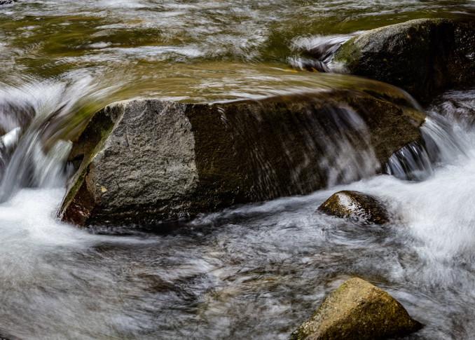A Calming Intensity; water dancing over rock