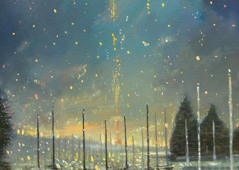 Rowayton Fireworks Art | Sandy Garnett Studio