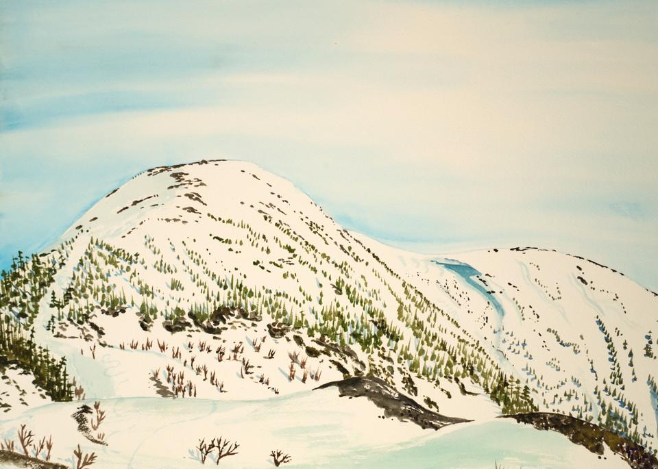 Chic Choc Canada Summit Ski Art for Sale