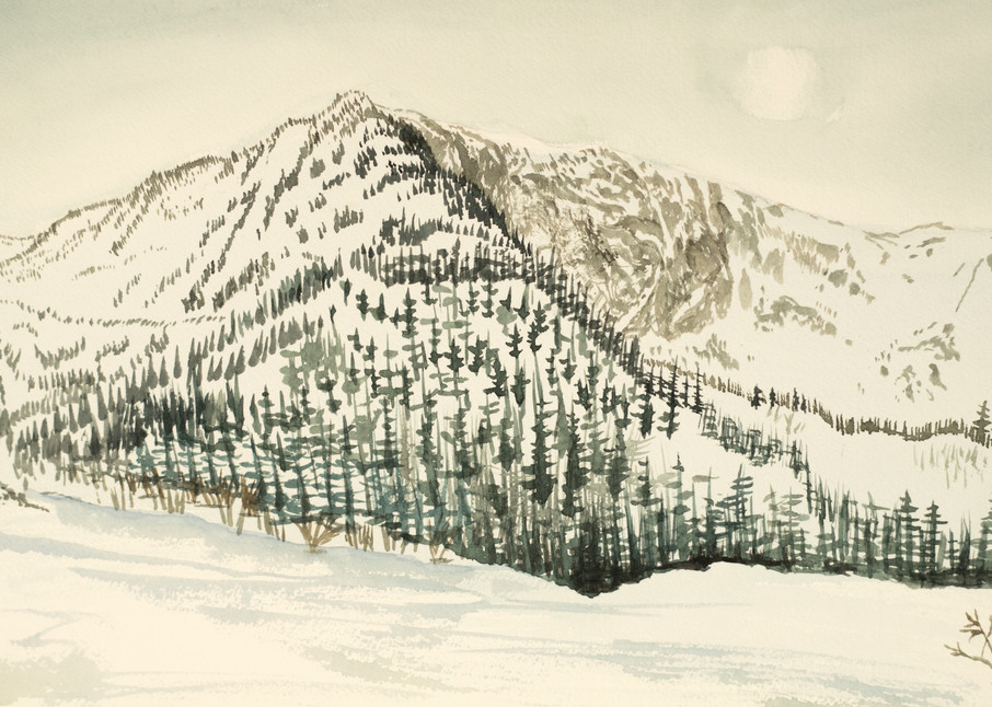 Thinning Fog in the Chic Chocs, Canada Art for Sale