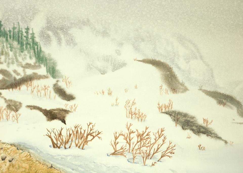 Spring Snow Storm Chic Choc Canada Ski Art for Sale