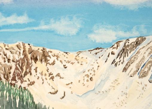 Glacial Cirque Chic Choc Canada Ski Art for Sale