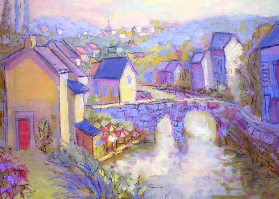 Dinan France Street Scene Fine Art Prints Paintings by Dorothy Fagan