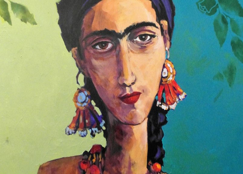 Frida With Braids Art | Jill Charuk Art