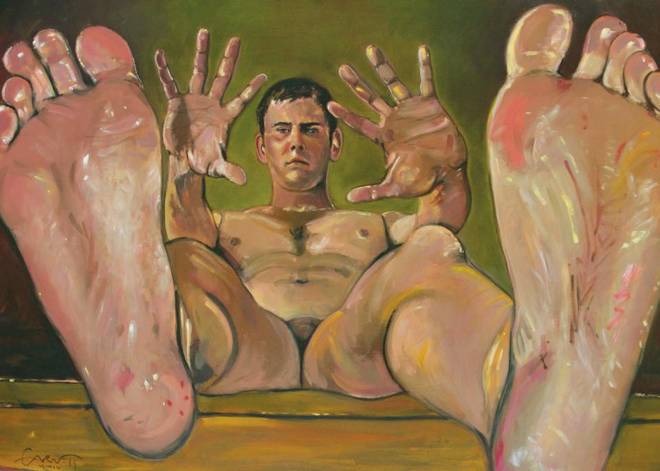 Self Portrait With Feet Art | Sandy Garnett Studio