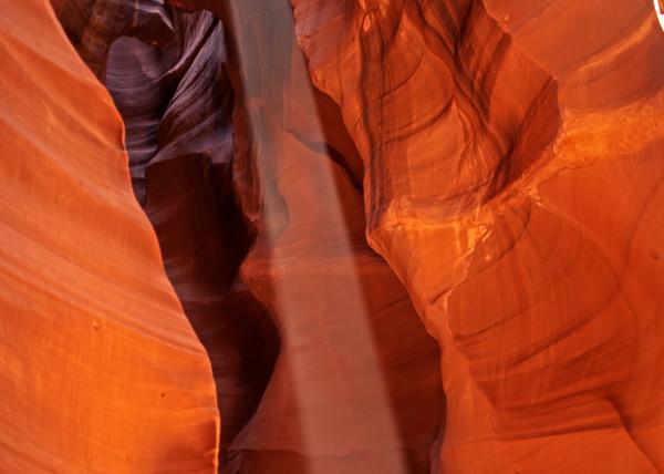 God Beam in Antelope Canyon near Page, Arizona
